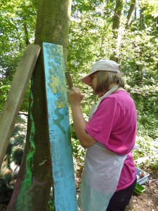 Painting in the wood